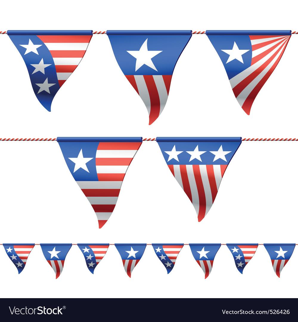 Patriotic flags vector | Price: 3 Credit (USD $3)