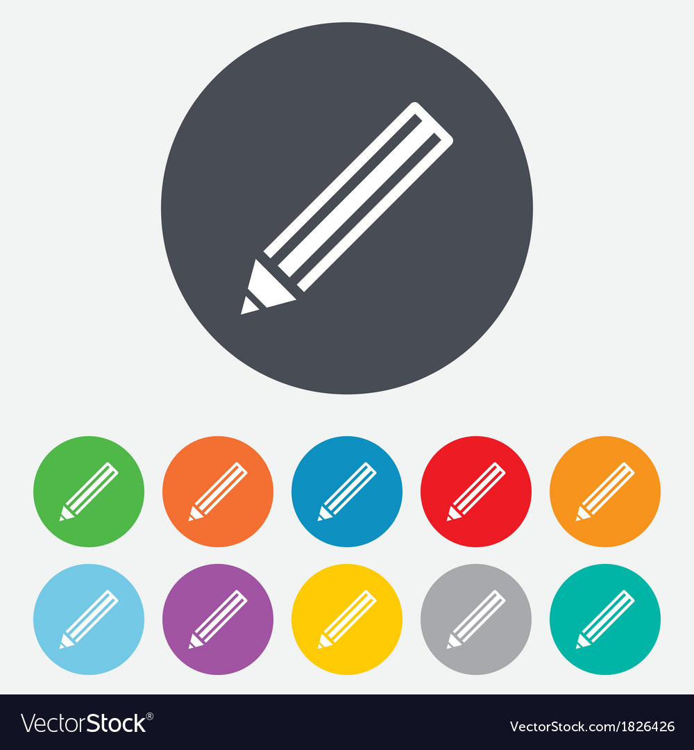 Pencil sign icon edit content button vector | Price: 1 Credit (USD $1)