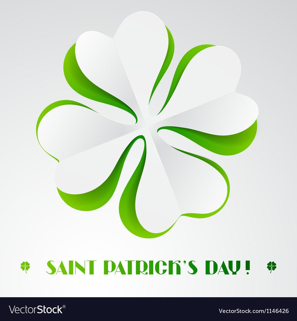 Saint patricks day background vector | Price: 1 Credit (USD $1)