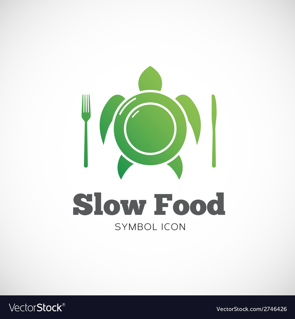Slow food concept symbol icon or logo template vector | Price: 1 Credit (USD $1)