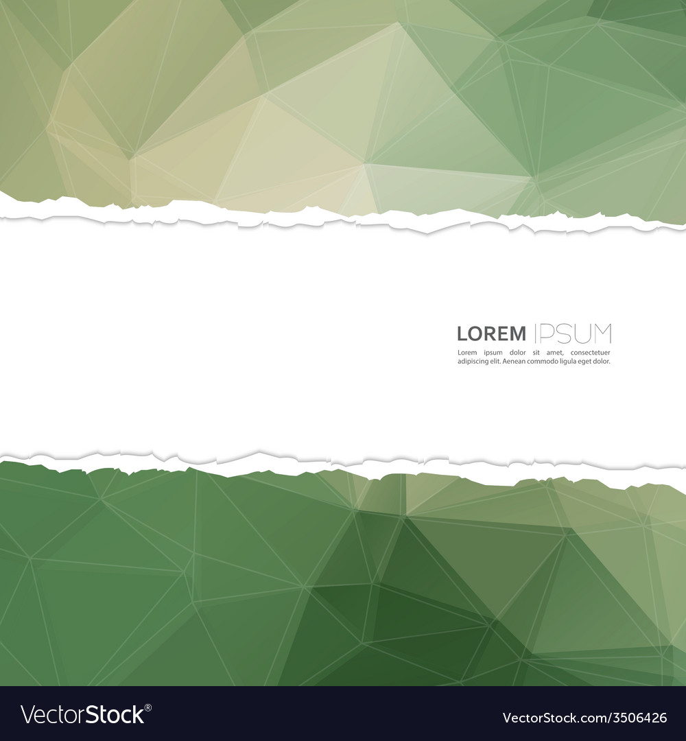 Torn paper with triangles and polygon mesh vector | Price: 1 Credit (USD $1)
