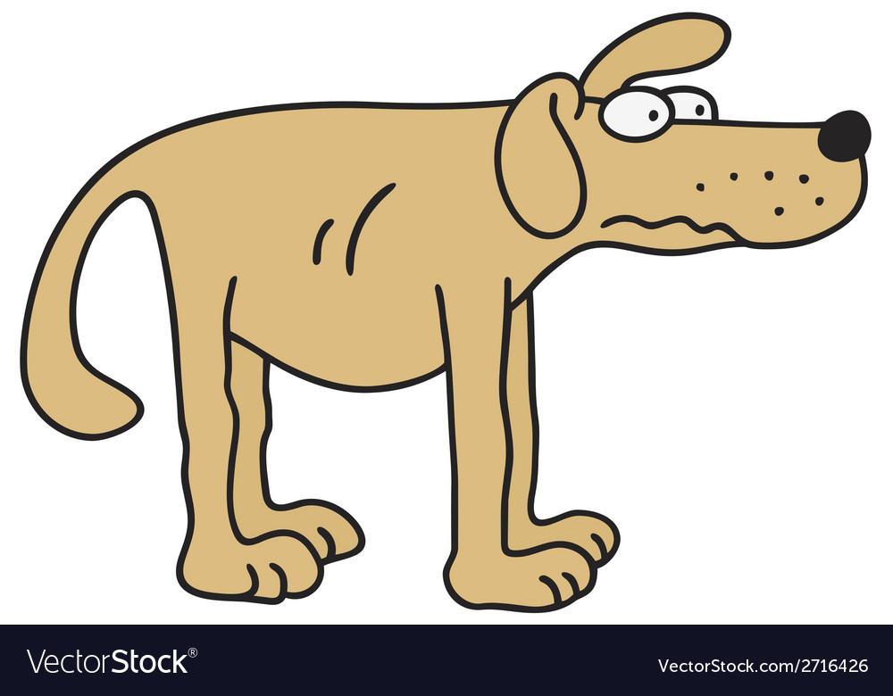 Yellow dog vector | Price: 1 Credit (USD $1)