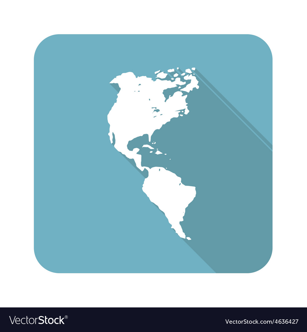 American continent icon vector | Price: 1 Credit (USD $1)