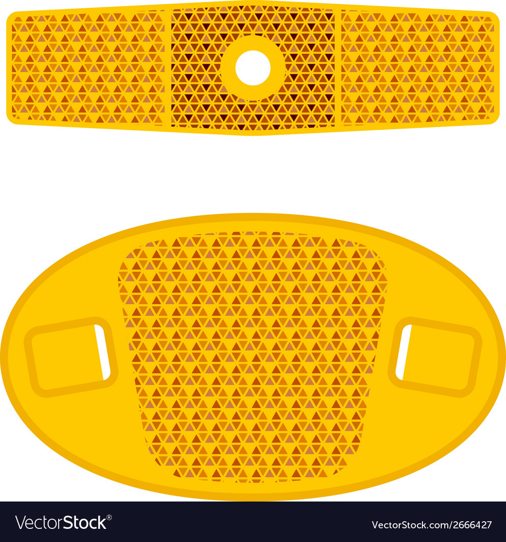 Bicycle wheel orange reflectors vector | Price: 1 Credit (USD $1)