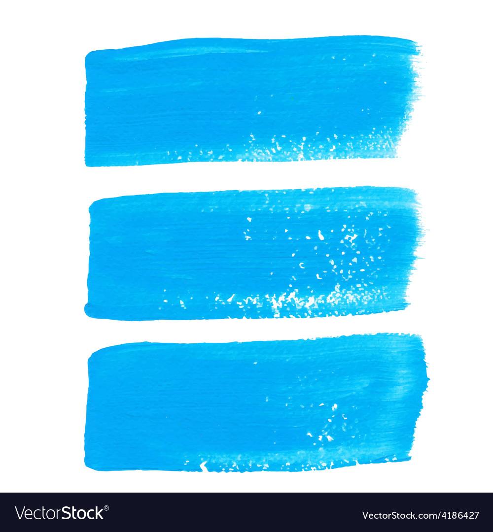 Bright blue ink brush strokes vector | Price: 1 Credit (USD $1)