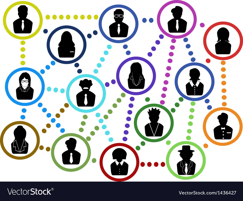Business people communication net vector | Price: 1 Credit (USD $1)
