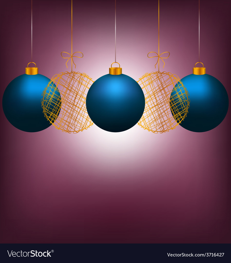 Christmas balls on violet vector | Price: 1 Credit (USD $1)