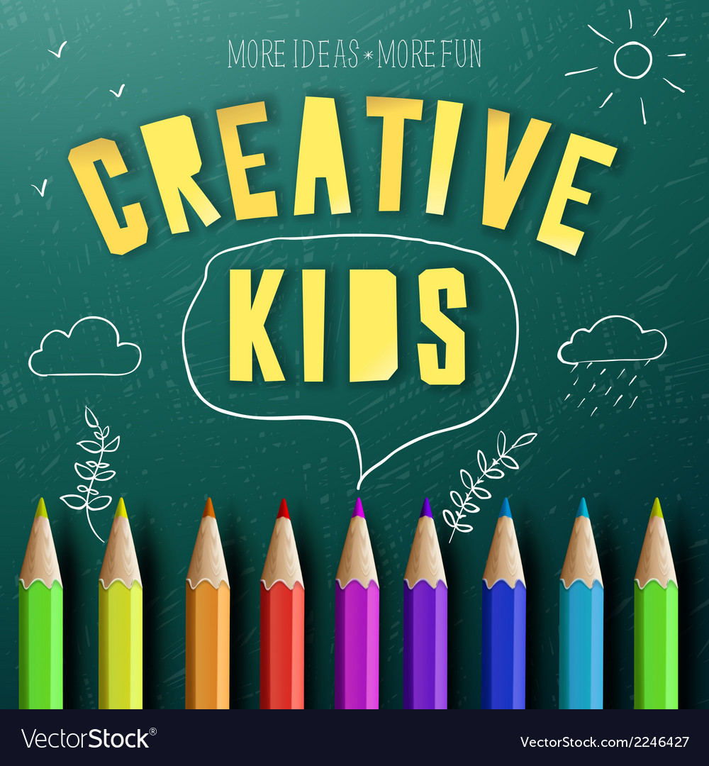 Concept of creative education for kids vector | Price: 1 Credit (USD $1)
