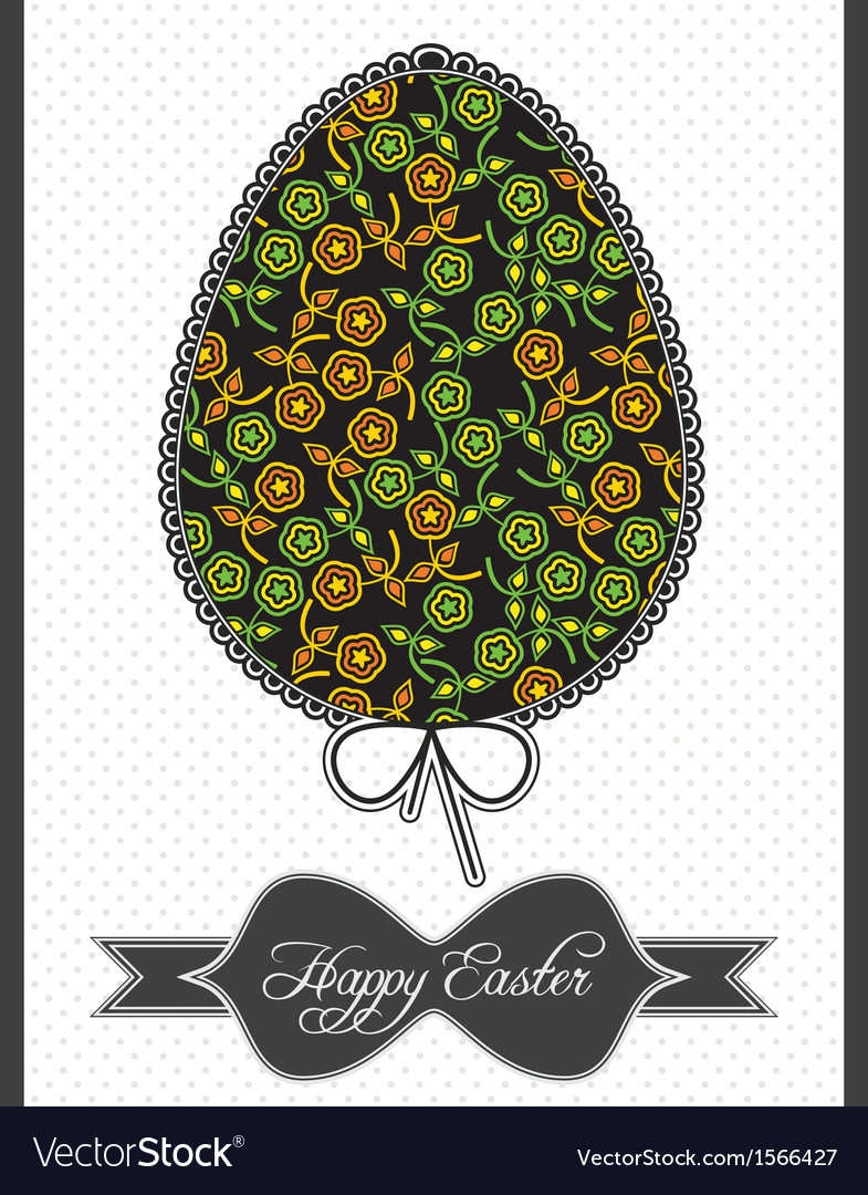 Floral composition in easter egg vector | Price: 1 Credit (USD $1)