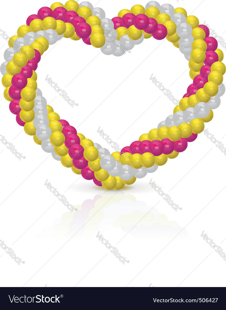 Heart from balloons vector | Price: 1 Credit (USD $1)