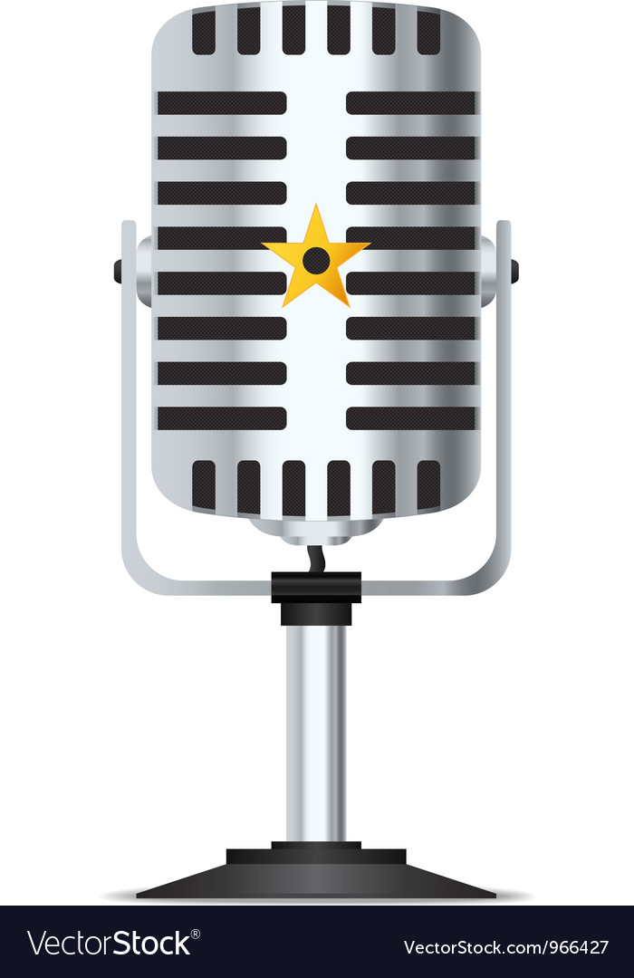 Microphone vector | Price: 1 Credit (USD $1)