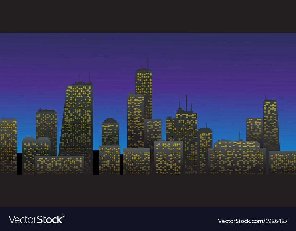Night city vector   Price: 1 Credit (USD $1)