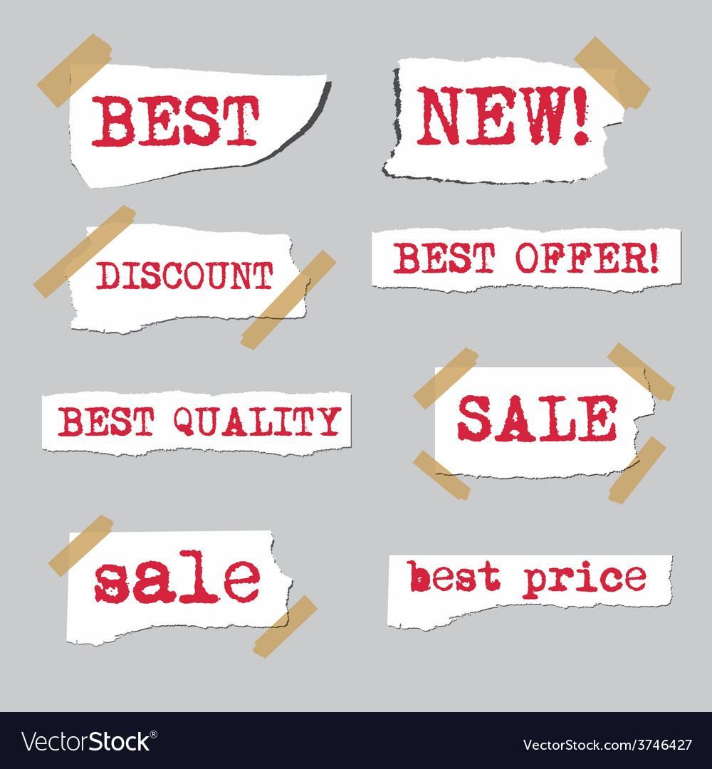 Promotion sale labels vector   Price: 1 Credit (USD $1)