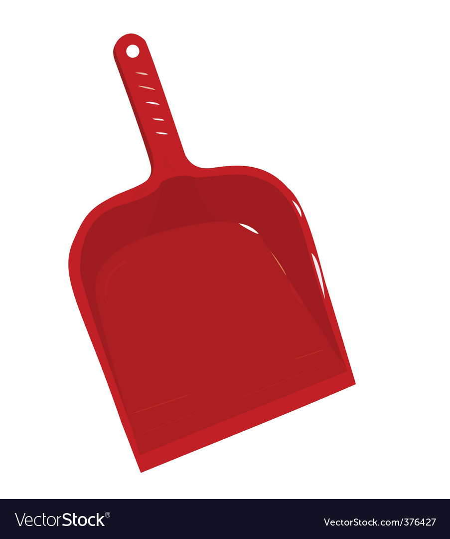 Red plastic scoop for dust vector | Price: 1 Credit (USD $1)