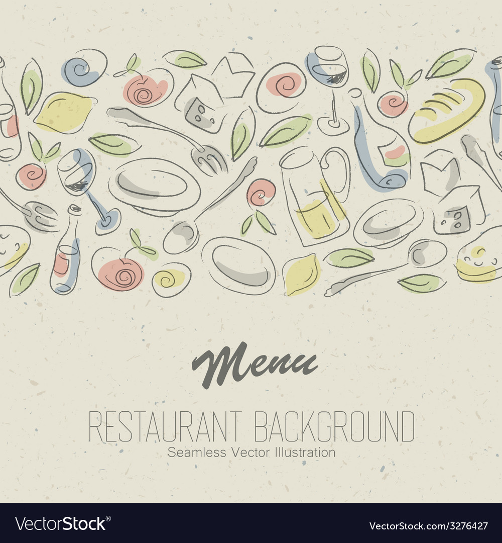 Restaurant menu elegant vector | Price: 1 Credit (USD $1)
