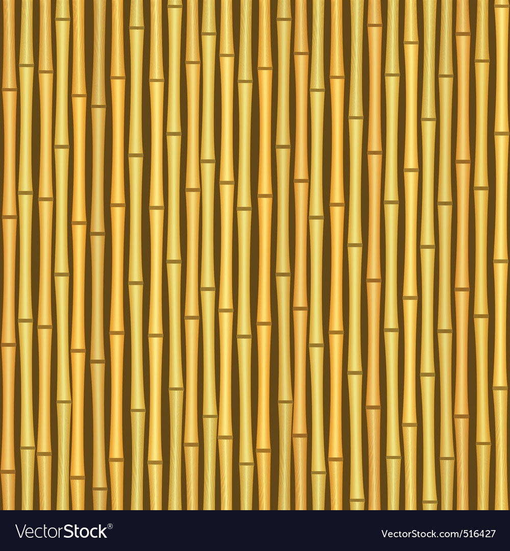 Vintage bamboo wall seamless texture background vector | Price: 1 Credit (USD $1)
