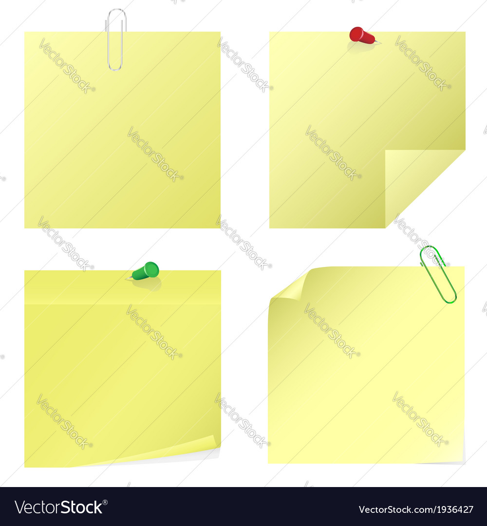 Yellow notice stickers vector | Price: 1 Credit (USD $1)