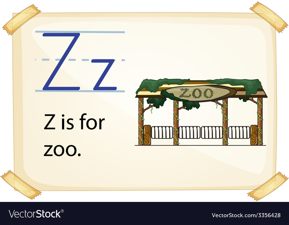 A letter z for zoo vector | Price: 3 Credit (USD $3)