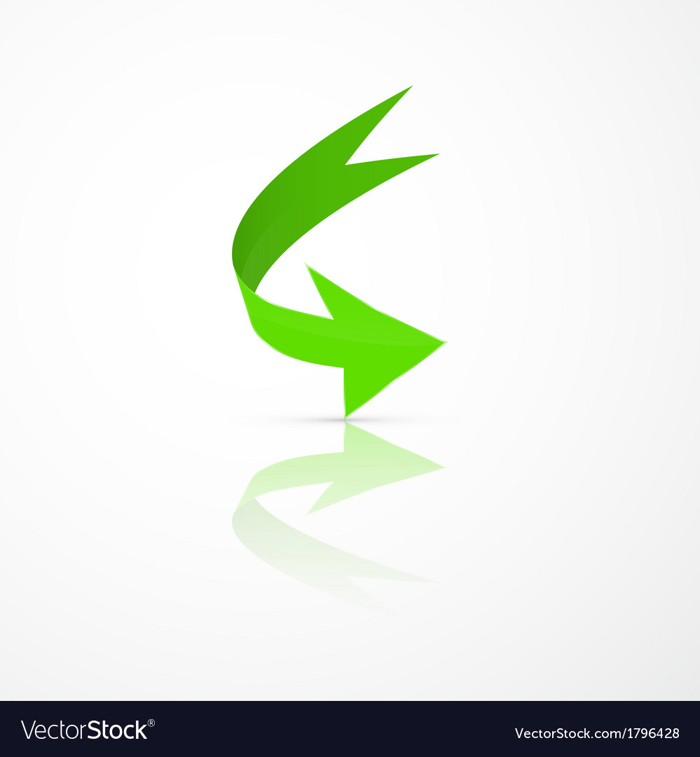 Abstract 3d green arrow icon vector | Price: 1 Credit (USD $1)