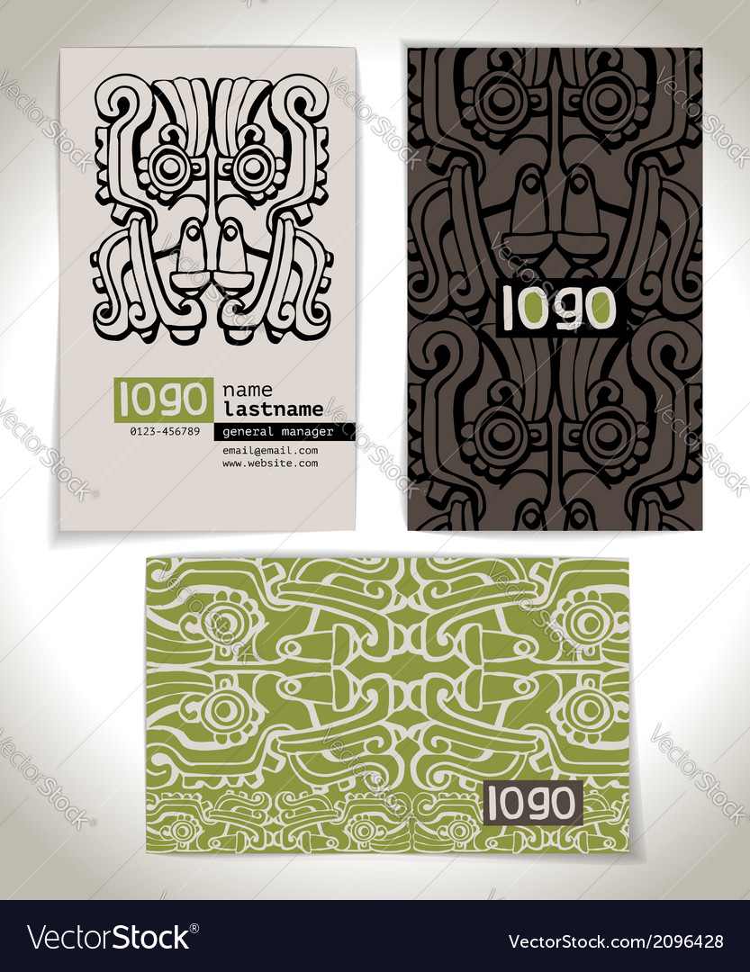 Ancient business card design vector   Price: 1 Credit (USD $1)