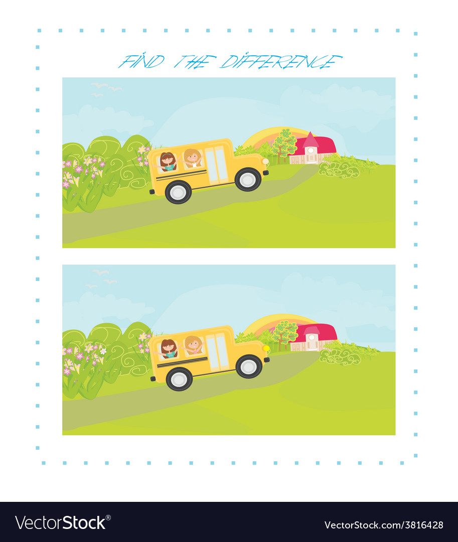 Back to school - find the difference vector | Price: 1 Credit (USD $1)