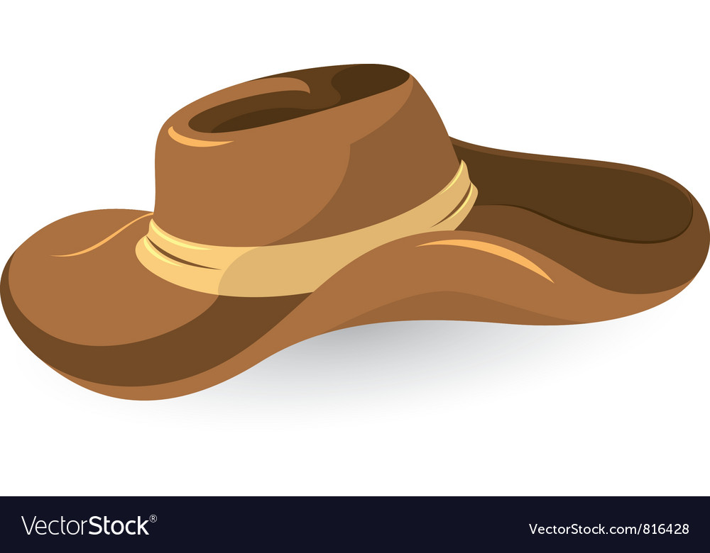 Brown cowboy hat vector | Price: 3 Credit (USD $3)