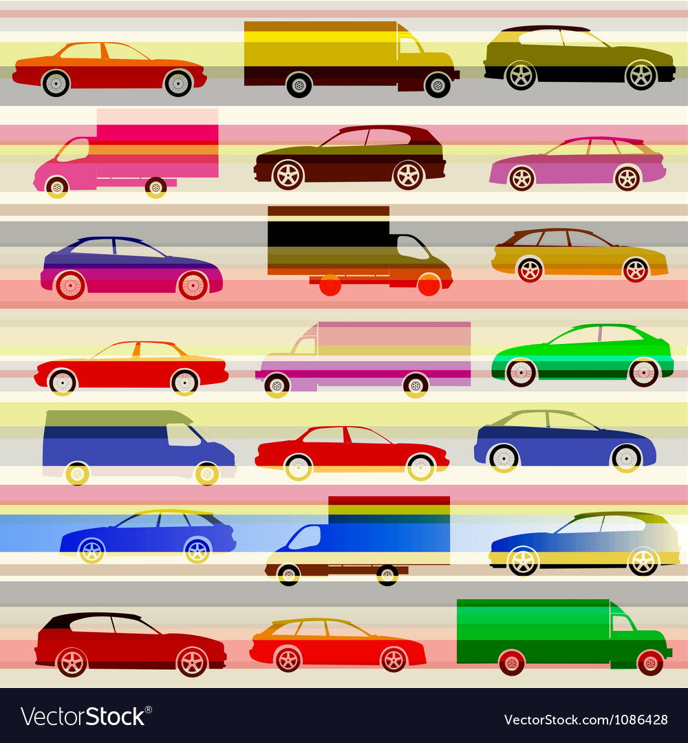 Cars and light trails on the highway vector | Price: 1 Credit (USD $1)