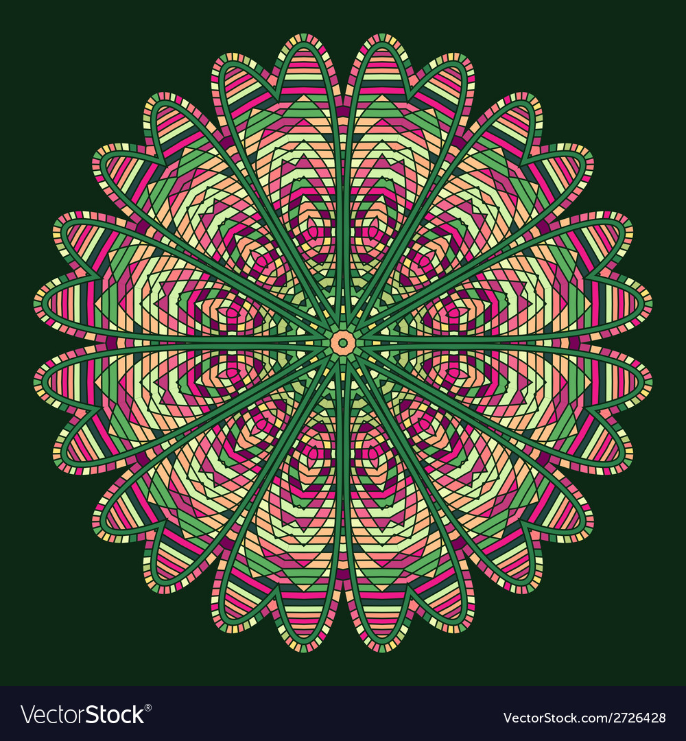 Celtic knot pattern card mandala amulet vector | Price: 1 Credit (USD $1)