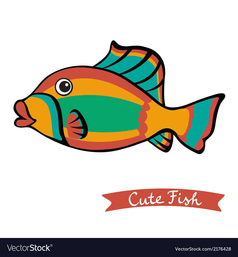 Cute fish vector   Price: 1 Credit (USD $1)