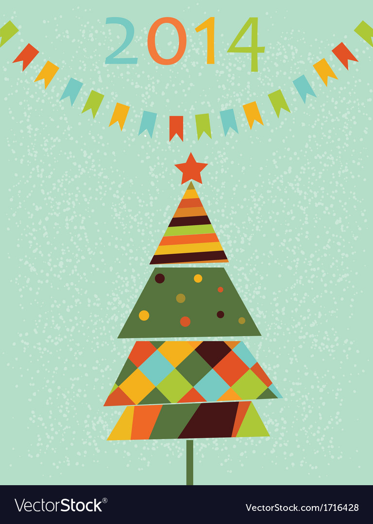 Decoration with stylized fir tree vector | Price: 1 Credit (USD $1)