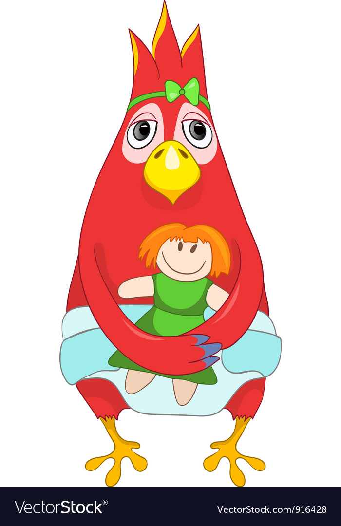 Funny baby parrot vector | Price: 1 Credit (USD $1)