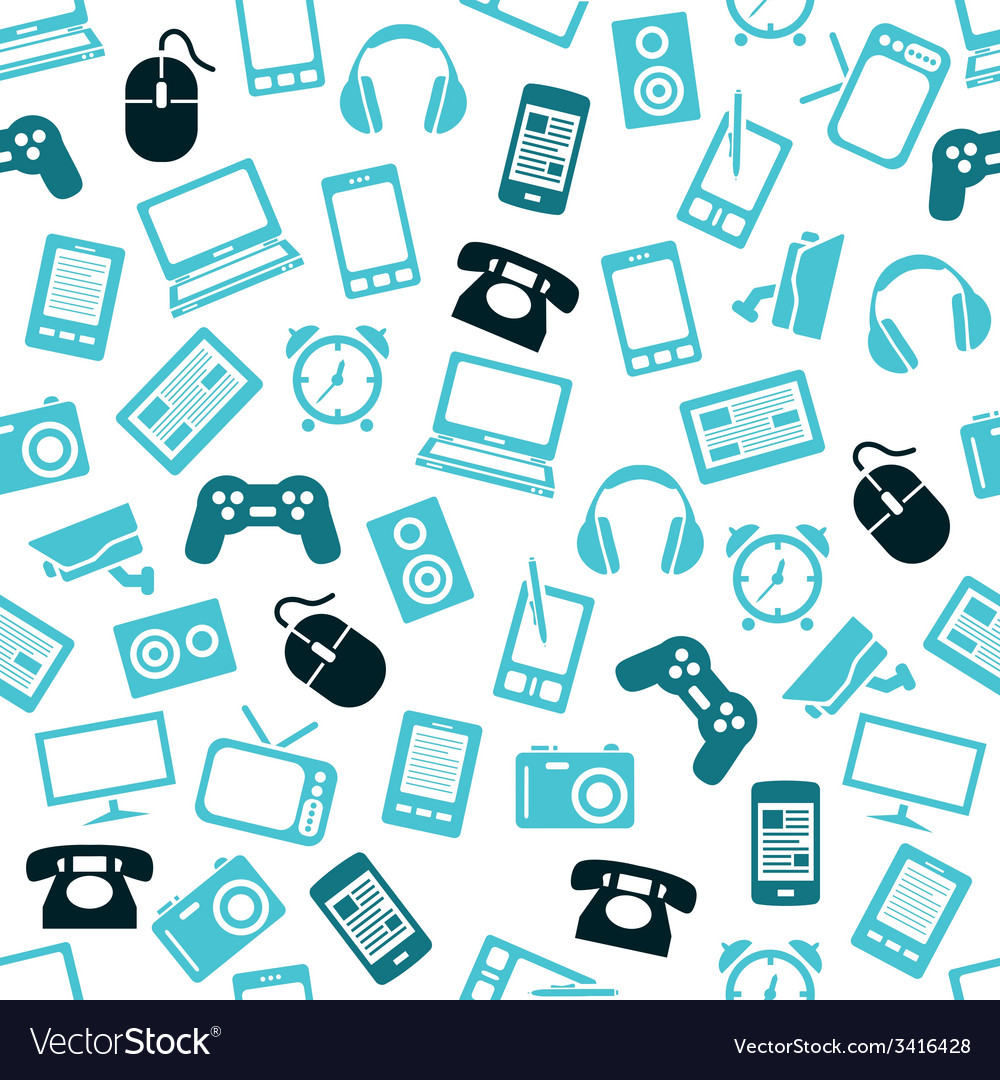 Gadget seamless pattern vector | Price: 1 Credit (USD $1)