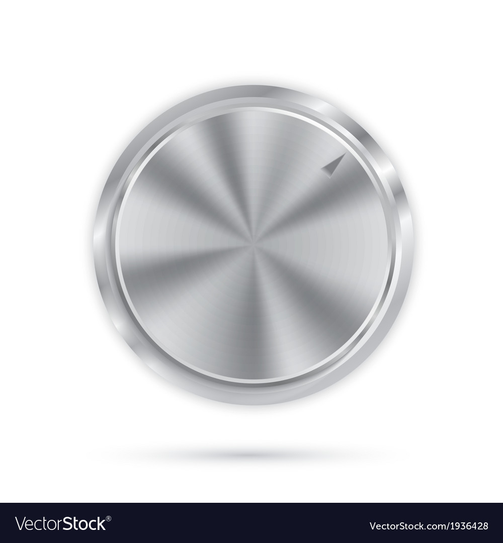 Metal button with circular processing vector | Price: 1 Credit (USD $1)