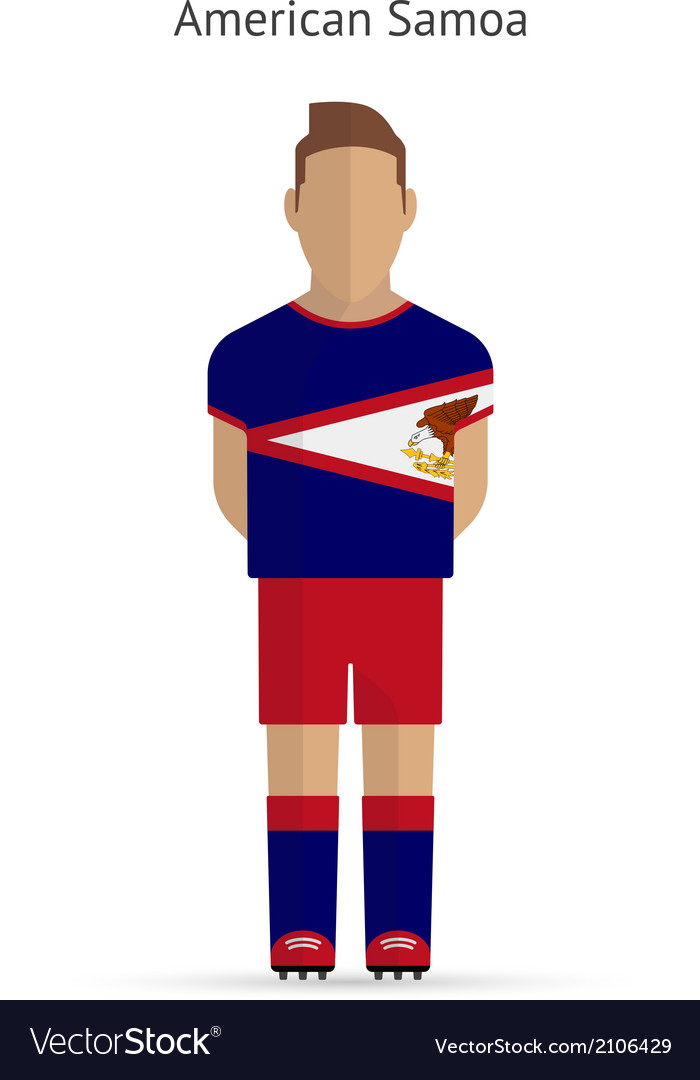 American samoa football player soccer uniform vector | Price: 1 Credit (USD $1)
