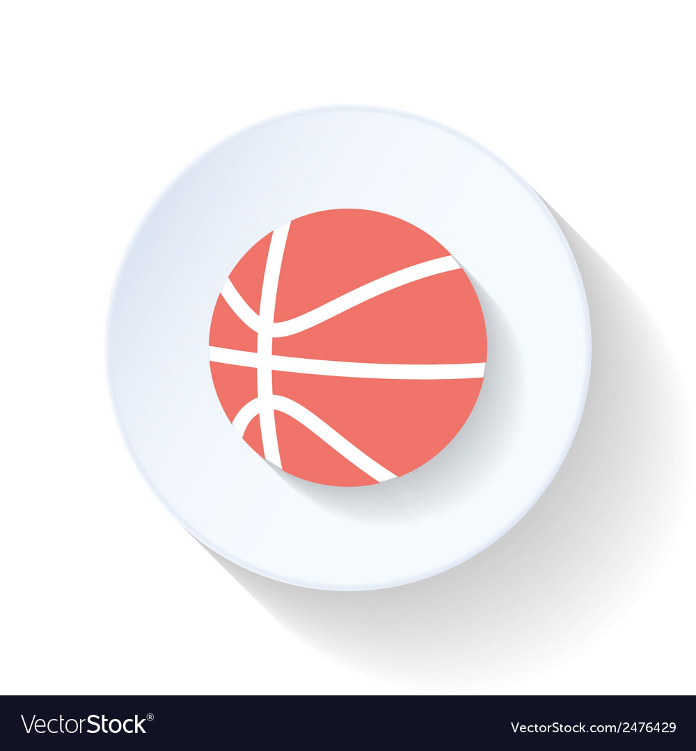 Basketball flat icon vector | Price: 1 Credit (USD $1)