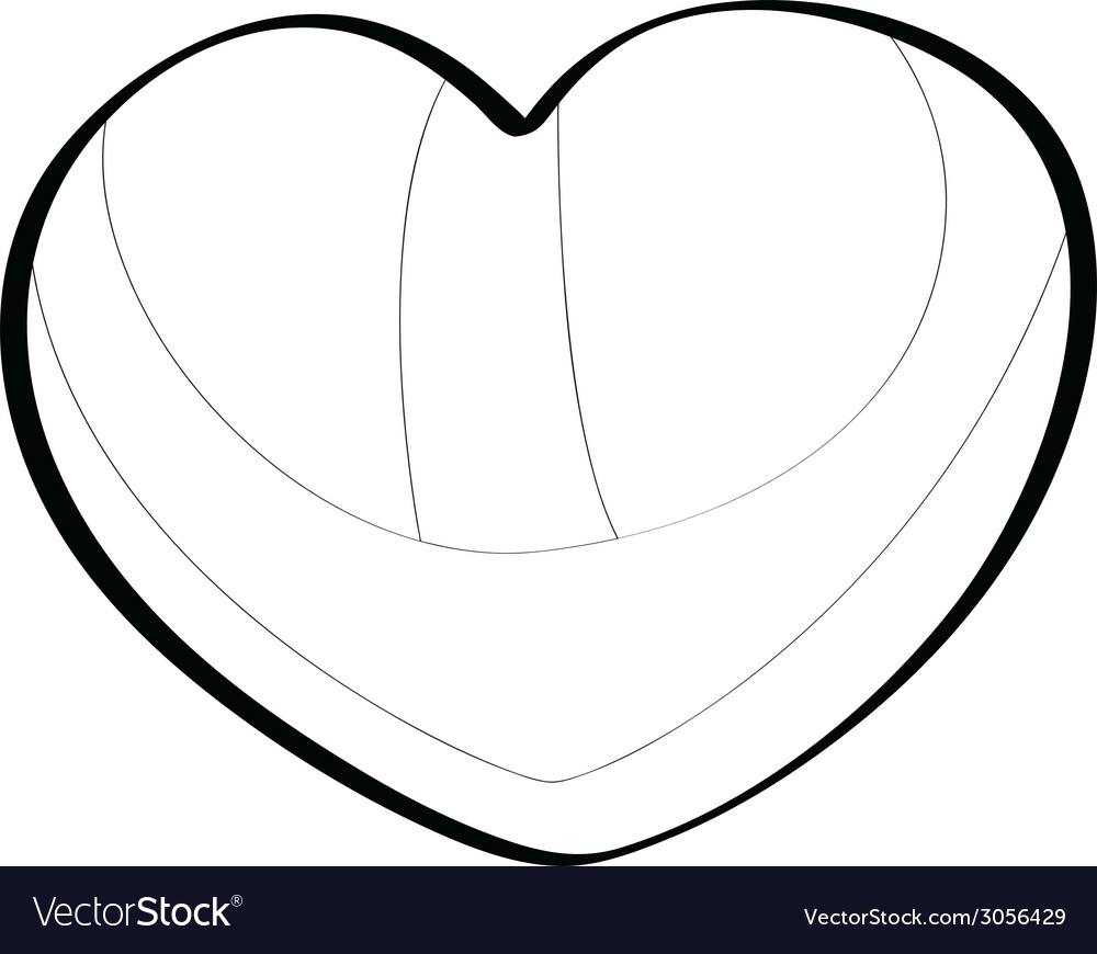 Brazilian heart lines vector | Price: 1 Credit (USD $1)