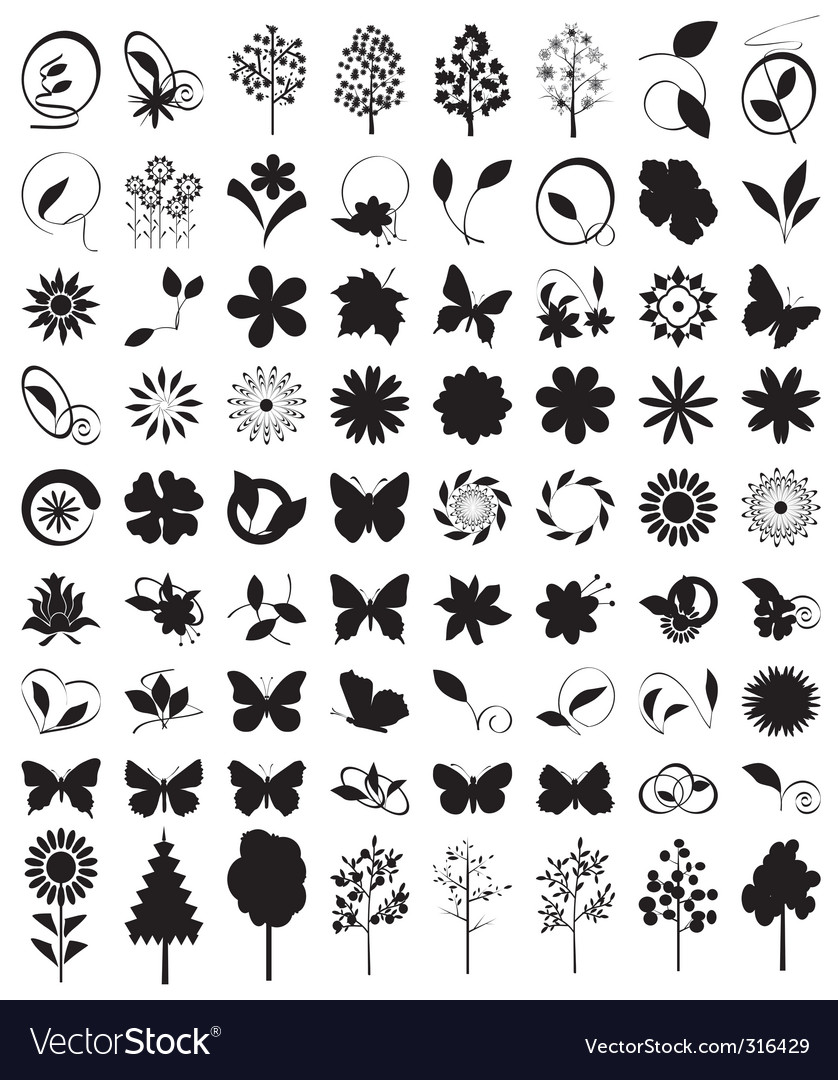 Character outlines details of nature vector | Price: 1 Credit (USD $1)