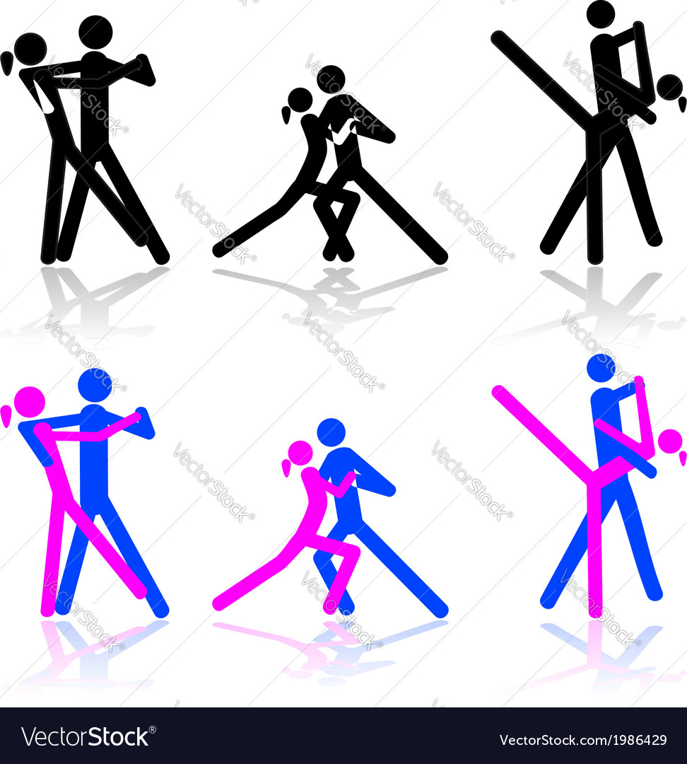Dance icons vector | Price: 1 Credit (USD $1)