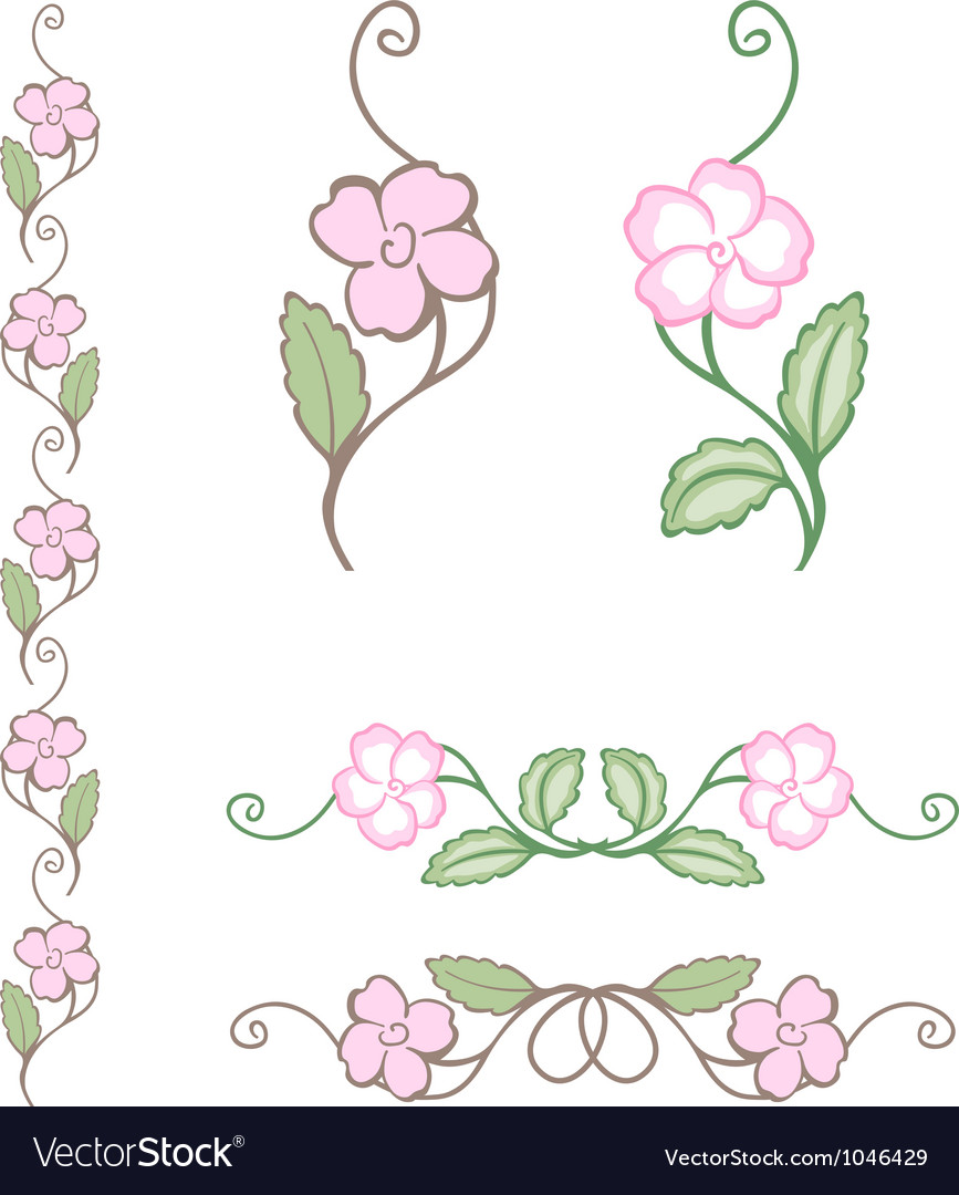 Delicate flower ornament vector | Price: 1 Credit (USD $1)