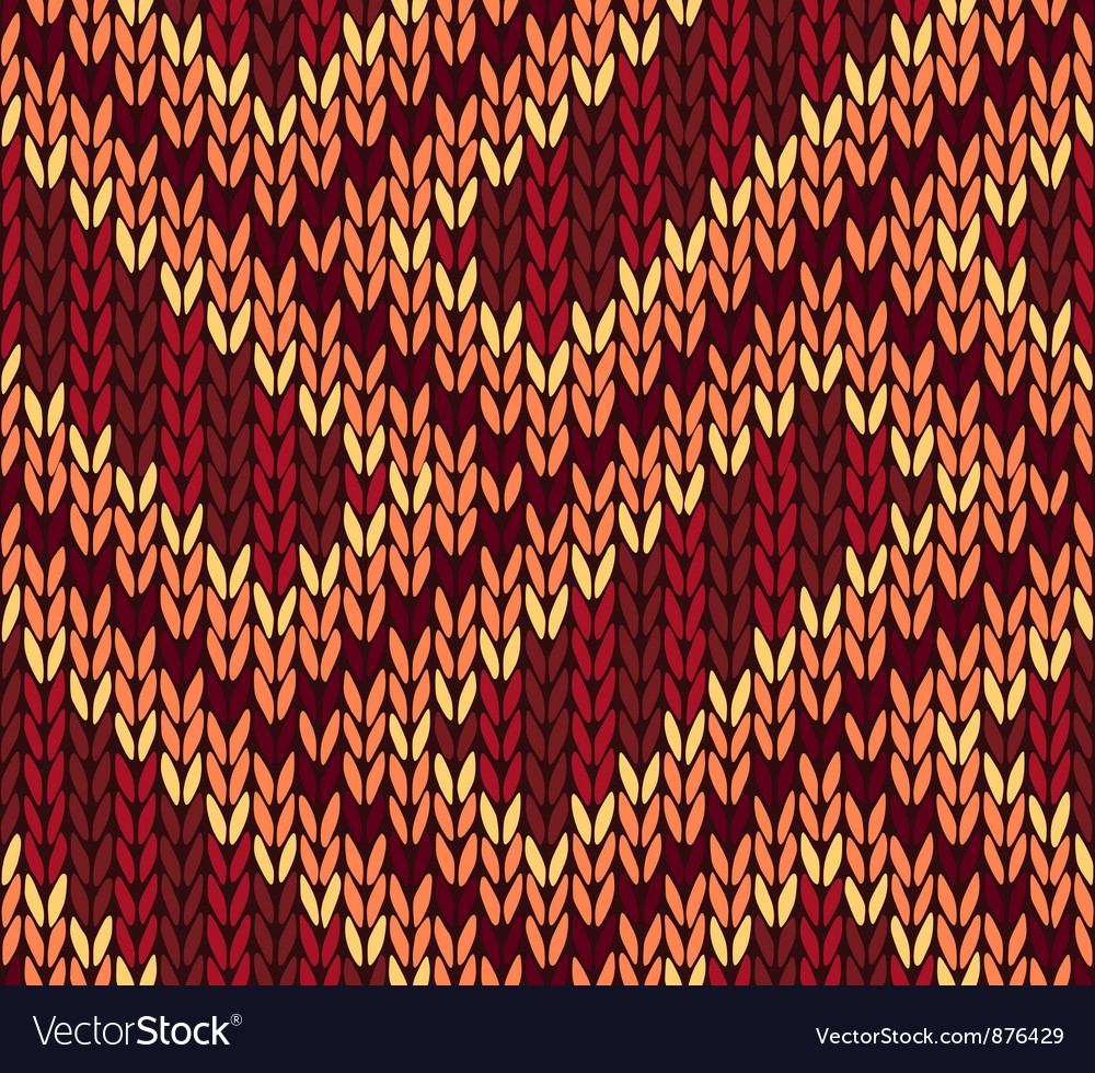 Ethnic knitted seamless background vector | Price: 1 Credit (USD $1)