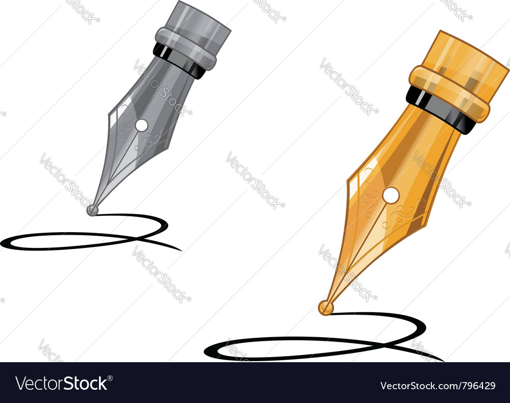Ink pen writing vector | Price: 3 Credit (USD $3)