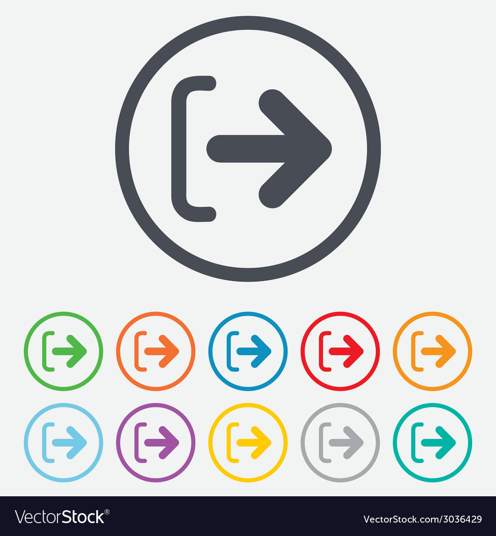 Logout sign icon log out symbol arrow vector | Price: 1 Credit (USD $1)