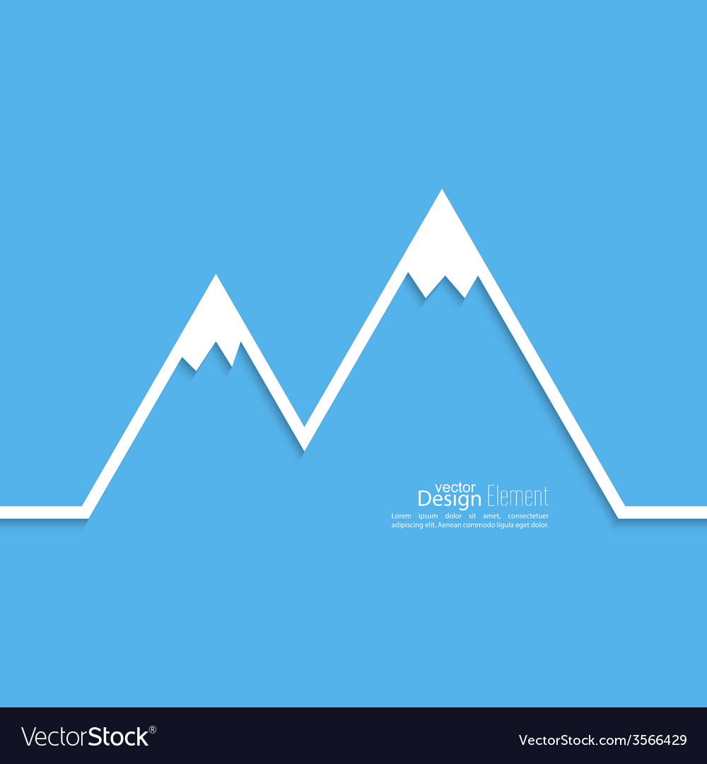 The mountains with snowy peaks vector | Price: 1 Credit (USD $1)