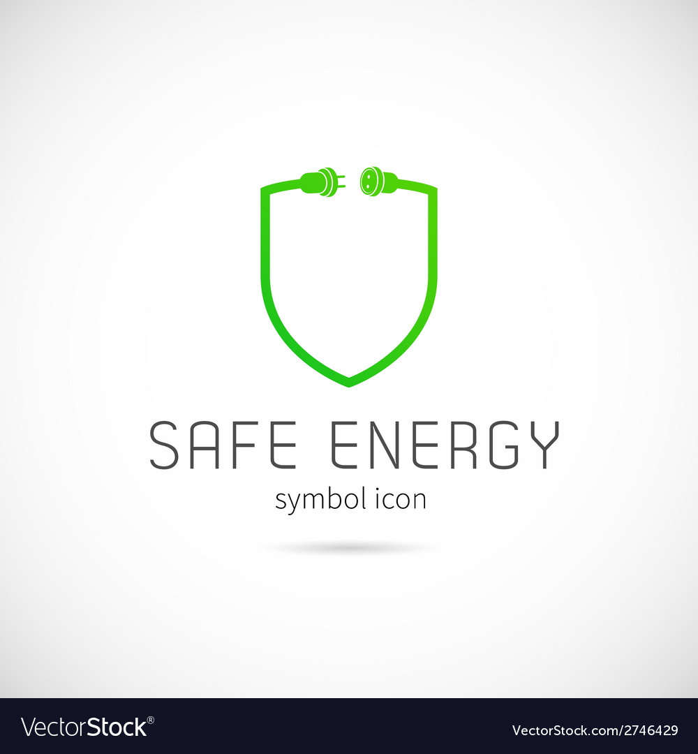 Safe energy concept symbol icon or logo template vector | Price: 1 Credit (USD $1)