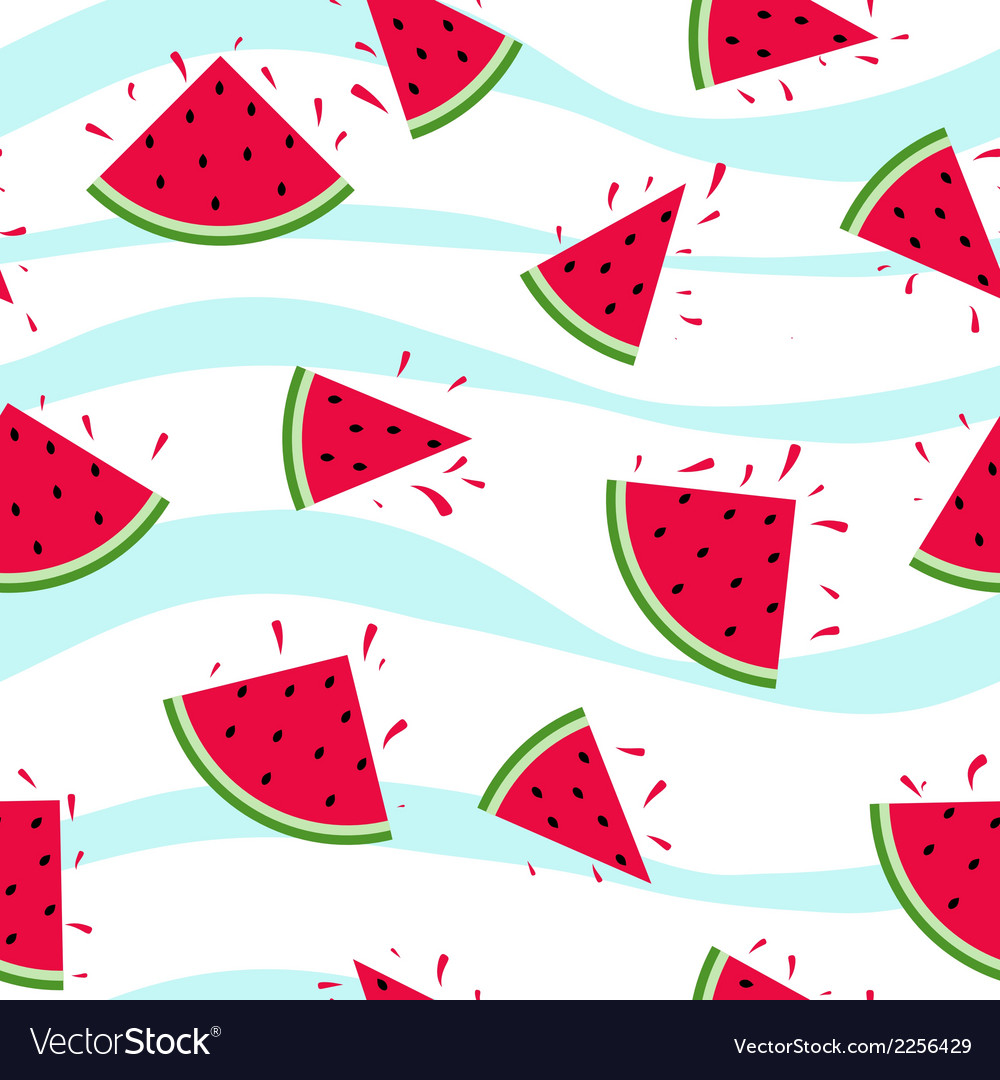 Seamless watermelon pattern splash vector | Price: 1 Credit (USD $1)