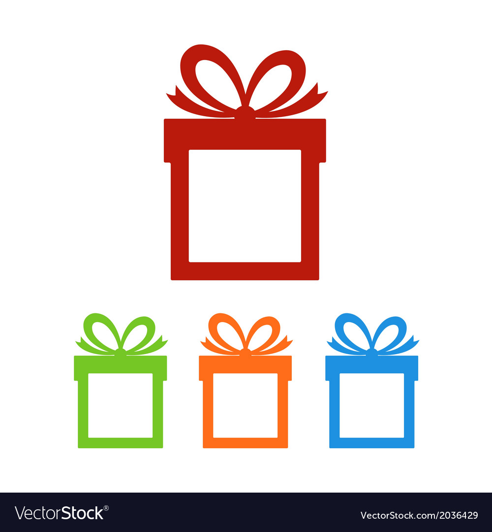 Set of gift boxes with place for text vector | Price: 1 Credit (USD $1)
