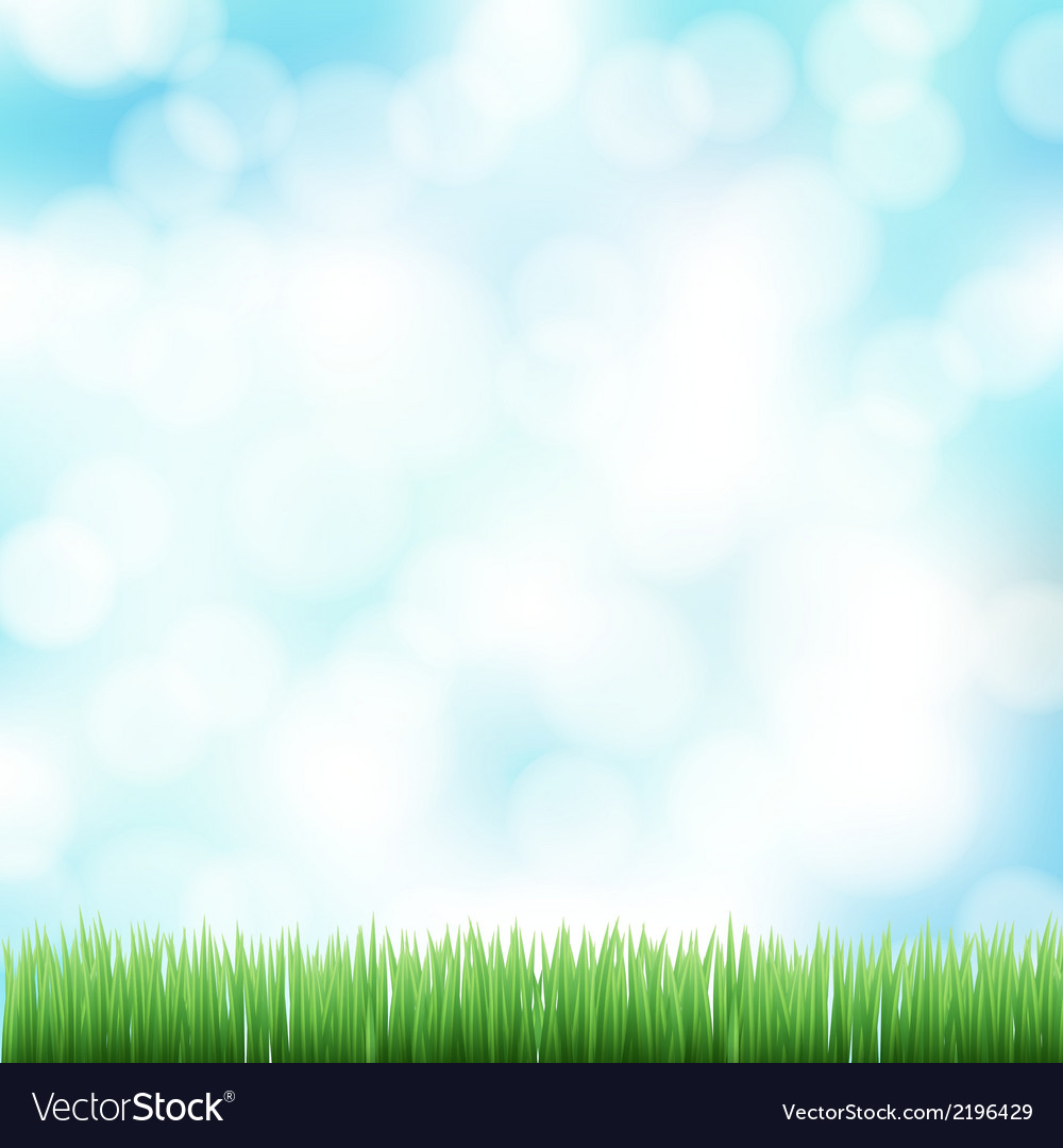 Spring bokeh background vector | Price: 1 Credit (USD $1)
