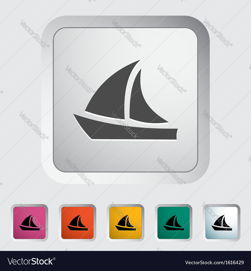 Yacht vector | Price: 1 Credit (USD $1)