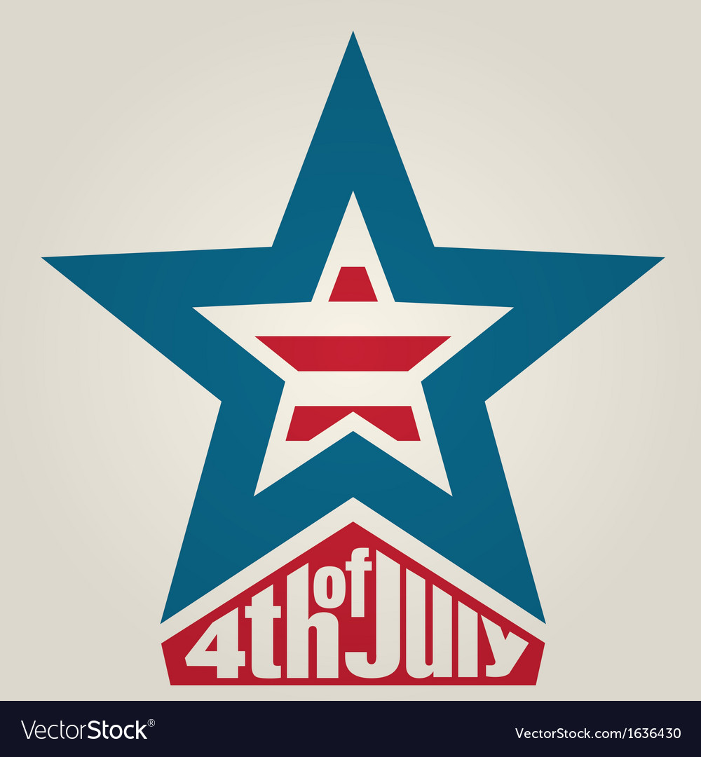 4th of july independence day background vector | Price: 1 Credit (USD $1)