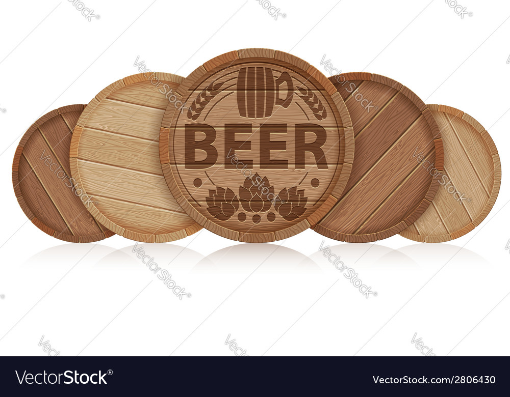 Barrels of beer vector | Price: 1 Credit (USD $1)